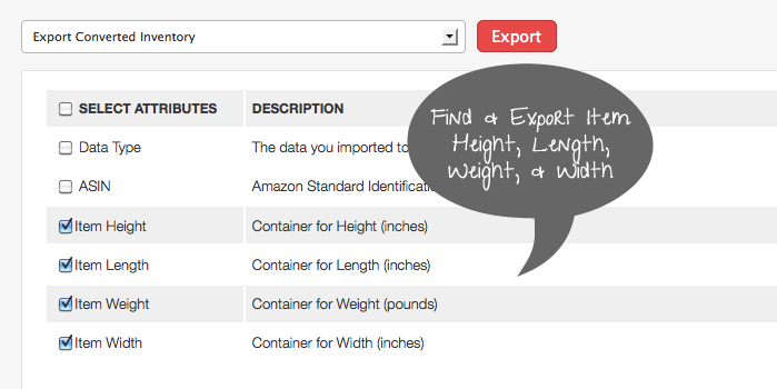 Amazon Height, Length, Width, Weight